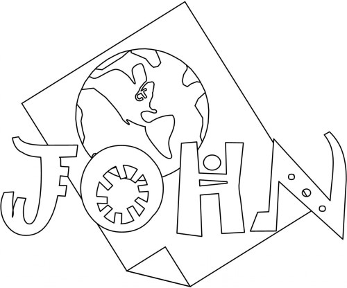 Bible Coloring Pages For Kids Free Printable Books Of The Bible John Coloring Pages